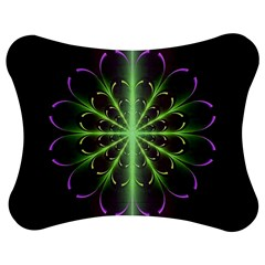 Fractal Purple Lime Pattern Jigsaw Puzzle Photo Stand (bow)