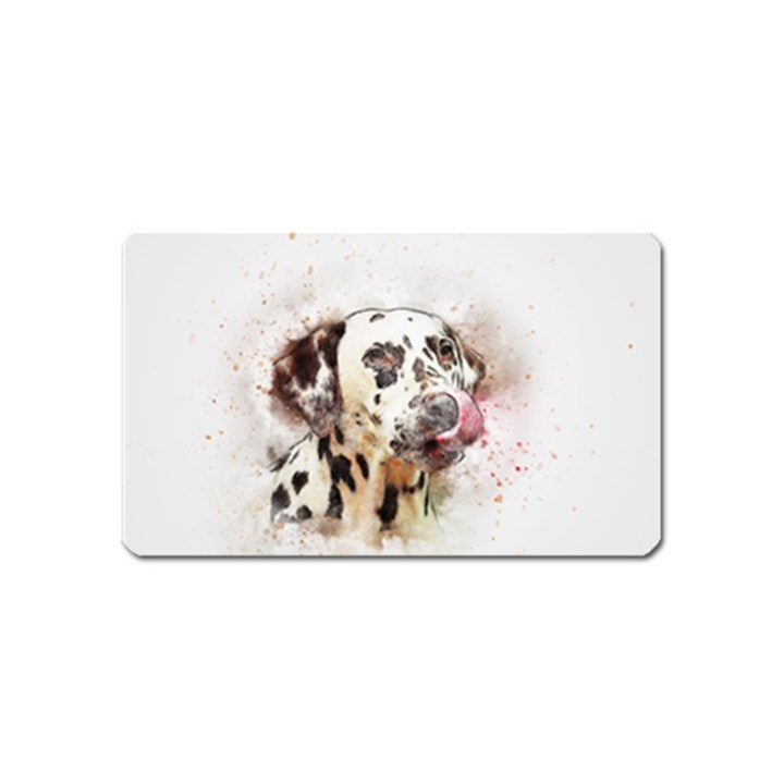 Dog Portrait Pet Art Abstract Magnet (Name Card)