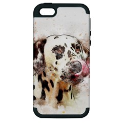 Dog Portrait Pet Art Abstract Apple Iphone 5 Hardshell Case (pc+silicone)