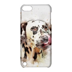 Dog Portrait Pet Art Abstract Apple Ipod Touch 5 Hardshell Case With Stand