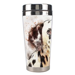 Dog Portrait Pet Art Abstract Stainless Steel Travel Tumblers