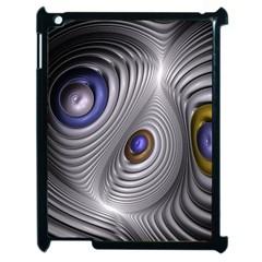 Fractal Silver Warp Pattern Apple Ipad 2 Case (black)
