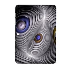 Fractal Silver Warp Pattern Samsung Galaxy Tab 2 (10 1 ) P5100 Hardshell Case