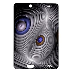 Fractal Silver Warp Pattern Amazon Kindle Fire Hd (2013) Hardshell Case