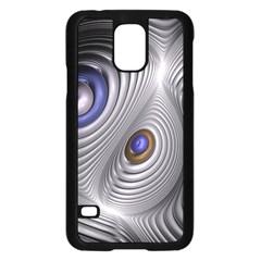 Fractal Silver Warp Pattern Samsung Galaxy S5 Case (black)
