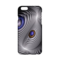 Fractal Silver Warp Pattern Apple Iphone 6/6s Hardshell Case