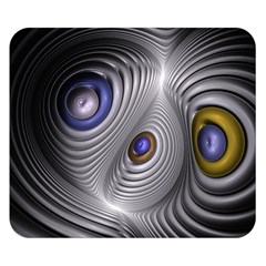 Fractal Silver Warp Pattern Double Sided Flano Blanket (small)
