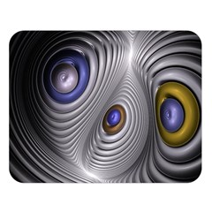 Fractal Silver Warp Pattern Double Sided Flano Blanket (large)