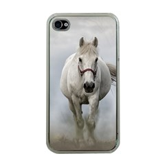 Horse Mammal White Horse Animal Apple Iphone 4 Case (clear)