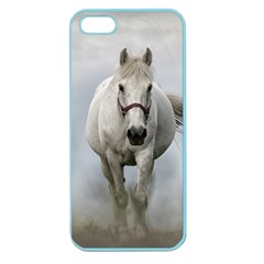 Horse Mammal White Horse Animal Apple Seamless Iphone 5 Case (color)