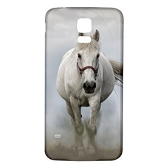 Horse Mammal White Horse Animal Samsung Galaxy S5 Back Case (white)