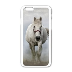 Horse Mammal White Horse Animal Apple Iphone 6/6s White Enamel Case