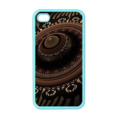 Fractal Stripes Abstract Pattern Apple Iphone 4 Case (color)