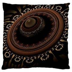 Fractal Stripes Abstract Pattern Large Cushion Case (one Side)