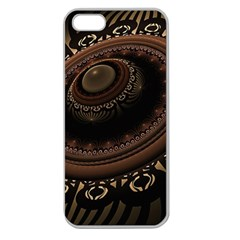 Fractal Stripes Abstract Pattern Apple Seamless Iphone 5 Case (clear)