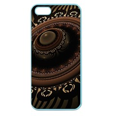 Fractal Stripes Abstract Pattern Apple Seamless Iphone 5 Case (color)