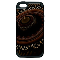 Fractal Stripes Abstract Pattern Apple Iphone 5 Hardshell Case (pc+silicone)