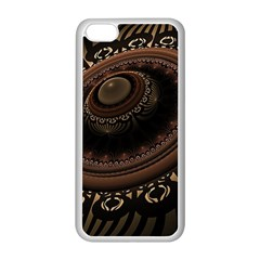 Fractal Stripes Abstract Pattern Apple Iphone 5c Seamless Case (white)