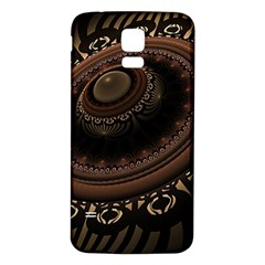 Fractal Stripes Abstract Pattern Samsung Galaxy S5 Back Case (white)