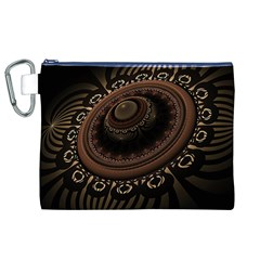 Fractal Stripes Abstract Pattern Canvas Cosmetic Bag (xl)