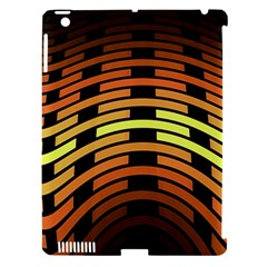Fractal Orange Texture Waves Apple Ipad 3/4 Hardshell Case (compatible With Smart Cover)