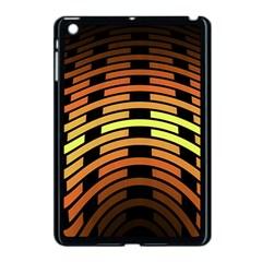 Fractal Orange Texture Waves Apple Ipad Mini Case (black)