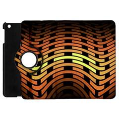Fractal Orange Texture Waves Apple Ipad Mini Flip 360 Case