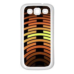 Fractal Orange Texture Waves Samsung Galaxy S3 Back Case (white)