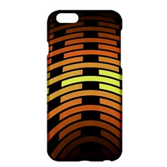 Fractal Orange Texture Waves Apple Iphone 6 Plus/6s Plus Hardshell Case
