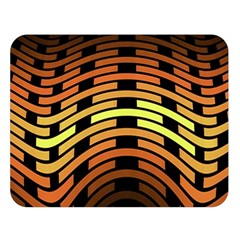 Fractal Orange Texture Waves Double Sided Flano Blanket (large)