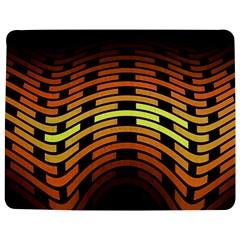 Fractal Orange Texture Waves Jigsaw Puzzle Photo Stand (rectangular)