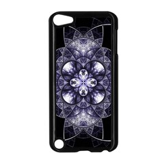 Fractal Blue Denim Stained Glass Apple Ipod Touch 5 Case (black)