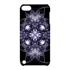 Fractal Blue Denim Stained Glass Apple Ipod Touch 5 Hardshell Case With Stand