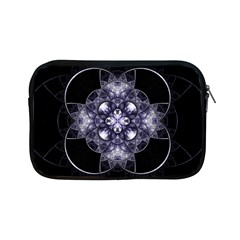 Fractal Blue Denim Stained Glass Apple Ipad Mini Zipper Cases