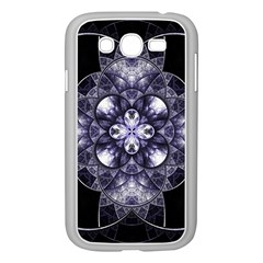 Fractal Blue Denim Stained Glass Samsung Galaxy Grand Duos I9082 Case (white)