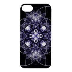Fractal Blue Denim Stained Glass Apple Iphone 5s/ Se Hardshell Case