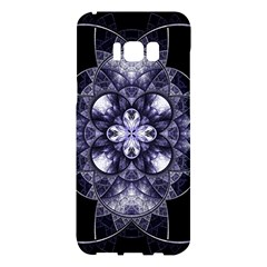 Fractal Blue Denim Stained Glass Samsung Galaxy S8 Plus Hardshell Case