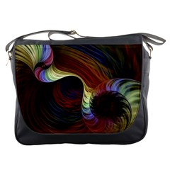 Fractal Colorful Rainbow Flowing Messenger Bags
