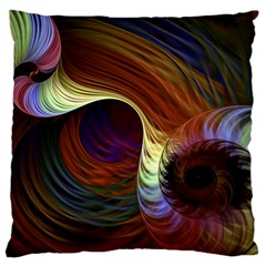 Fractal Colorful Rainbow Flowing Standard Flano Cushion Case (one Side)