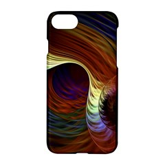 Fractal Colorful Rainbow Flowing Apple Iphone 8 Hardshell Case