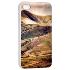 Iceland Mountains Sky Clouds Apple Iphone 4/4s Seamless Case (white)