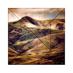 Iceland Mountains Sky Clouds Acrylic Tangram Puzzle (6  X 6 )