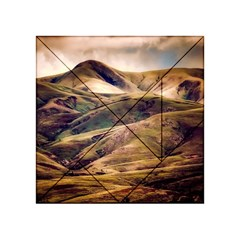 Iceland Mountains Sky Clouds Acrylic Tangram Puzzle (4  X 4 )