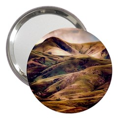 Iceland Mountains Sky Clouds 3  Handbag Mirrors