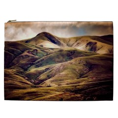 Iceland Mountains Sky Clouds Cosmetic Bag (xxl)