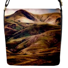 Iceland Mountains Sky Clouds Flap Messenger Bag (s)
