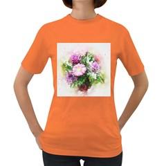 Flowers Roses Bouquet Art Nature Women s Dark T Shirt