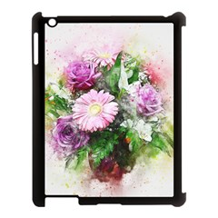 Flowers Roses Bouquet Art Nature Apple Ipad 3/4 Case (black)