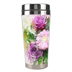 Flowers Roses Bouquet Art Nature Stainless Steel Travel Tumblers