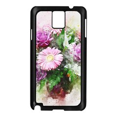 Flowers Roses Bouquet Art Nature Samsung Galaxy Note 3 N9005 Case (black)